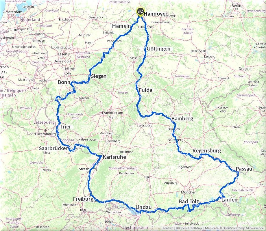 Radtour durch Deutschland